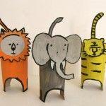 Cardboard+Tube+Jungle+Animals