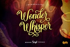 Wonder Whisper Script OFF) Fonts **Hello There.**Thanks for stopping by here, i would like to introduce the new ***Lovely*** and by Qadry Modern Typeface, Script Typeface, Hand Lettering Fonts, Pretty Fonts, Beautiful Fonts, Fancy Fonts, Cool Fonts, Business Brochure, Business Card Logo