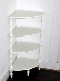 handmade corner bookcase icing two shelves by thesummeryumbrella 5000 furniture pieces i love pinterest shelves corner and 50th - White Corner Bookshelves