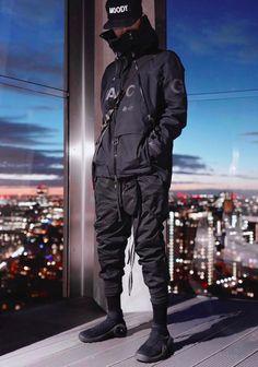Moda Cyberpunk, Cyberpunk Fashion, Dark Fashion, Urban Fashion, Winter Fashion, Moda Streetwear, Streetwear Fashion, Hip Hop Fashion, Sport Fashion