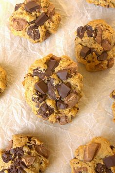 Soft baked Chocolate Chip Cookies with the flavour of a digestive biscuit. Wonderful and low sugar!