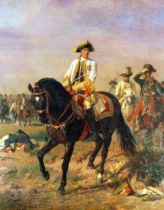 The Austrian commander, General Loudon, at the Battle of Kunersdorf