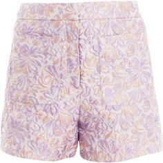 MARKUS LUPFER Floral Puff Alana Shorts ($187) ❤ liked on Polyvore featuring shorts, bottoms, pants, short, markus lupfer, floral print shorts, glitter shorts, floral printed shorts and puffy shorts