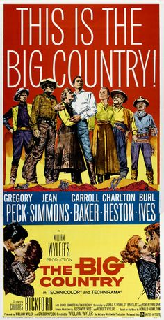 1958 Movie Posters | MOVIE POSTERS: THE BIG COUNTRY (1958)