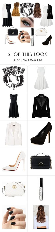 """""""Pisces the two fish inspired outift"""" by teenwolfgirl14 ❤ liked on Polyvore featuring Good American, Lands' End, Oscar de la Renta, Tom Ford, Charles David, Christian Louboutin, Sole Society, Gucci, Incoco and NA-KD"""