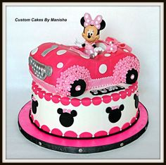 Minnie mouse car cake!