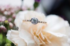 Daisy Old Mine Cut Two Tone Diamond Ring by S. Kind & Co.