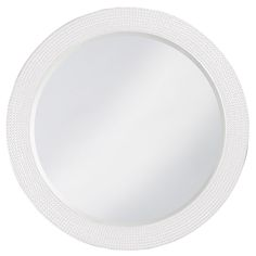 Round Lancelor Glossy White Mirror | Howard Elliott | Home Gallery Stores