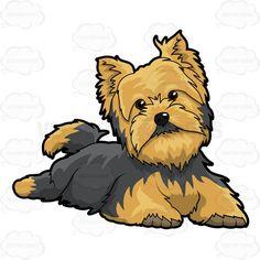 Little Dog Relaxing On Floor #apartmentdog #black #canine #Canislupusfamiliaris #coat #dog #domesticated #domesticateddog #fur #furry #hairy #littledog #lookingatcamera #man'sbestfriend #necktilt #paws #pawsdown #pooch #pup #puppy #resting #shaggy #smalldog #tan #terrier #tinydog #yorkie #yorkshireterrier #vector #clipart #stock