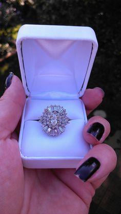 Beautiful ballerina diamond engagement ring