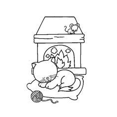 Coloriage Chat Qui Dort a Imprimer Gratuit Peanuts Comics, Scrap, Snoopy, Fictional Characters, Online Coloring, Cats, Children, Fantasy Characters