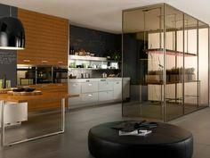 The Arclinea Indoor Miniature Greenhouse for your #kitchen!  #design #interiordesign
