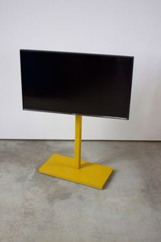 Available for order on Etsy, this freestanding tv pedestal has a minimalist design and custom powder coated color finish. Corner Tv Stands, Powder Coat Colors, Big Screen Tv, Tv In Bedroom, Design Studio, Build Your Own, Pedestal, Minimalist Design, Living Room