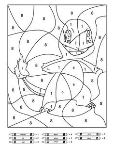 3 Free Pokemon Color By Number Printable Worksheets Pokemon Coloring Pages Pokemon Coloring Color By Number Printable