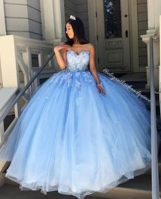 May 2020 - Princess Ball Gown Sweetheart Blue Prom/Evening Dresses with Appliques sold by BeautyLady. Shop more products from BeautyLady on Storenvy, the home of independent small businesses all over the world. Sweet 15 Dresses, Cute Prom Dresses, Tulle Prom Dress, Pretty Dresses, Beautiful Dresses, Prom Dreses, Sweet Sixteen Dresses, Sparkly Dresses, Dress Lace