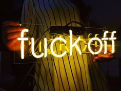 "US$99.00 - ""fvck off"" Home Wall Table Lamp Room Car Bar Harley Bike Neon Light…"