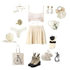"""""""Bunny"""" by edit-hansson ❤ liked on Polyvore featuring Kai, Reiss, Williams-Sonoma, Hanky Panky, Bellezza, Nach Bijoux, cute and pretty"""