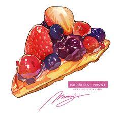 Cute Food Art, Cute Art, Food Kawaii, Desserts Drawing, A Food, Food And Drink, Dessert Illustration, Cute Food Drawings, Food Sketch