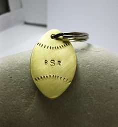 Personalized Foot Ball Key Chain Brass.