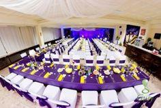 Guty dekoračné štúdio fialovo-žltá výzdoba študentský stôl