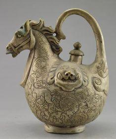 Tibet, silver teapot