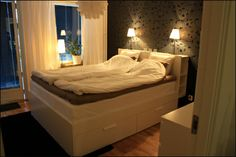 IKEA Brimnes Bed & Headboard