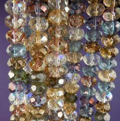 Luster Assortment Czech Glass Rondelle Beads 9x6mm - 12. $2.60, via Etsy.