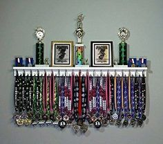 Amazon.com : Premier 4ft Award Medal Display Rack and Trophy Shelf : Sports & Outdoors