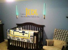 "baby jedi room star wars nursery ~ ""i am a jedi, like my father before me"""