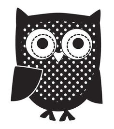 """Mounted Rubber Stamp 1.5""""X1.5""""-Owl"""