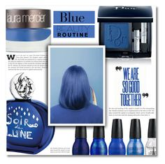 """~ Blue is the warmest color ~"" by dolly-valkyrie ❤ liked on Polyvore featuring beauty, Sisley, Christian Dior, Laura Mercier, Dollhouse and Kate Spade"