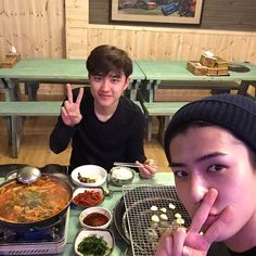 This is probably the power of maknae's aegyo (the youngest member's cuteness) at work. Sehun has posted photos of the elusive D.O. posing for his camera multiple times, while Chanyeol, who claimed to be D.O.'s best friend, has failed time and again.
