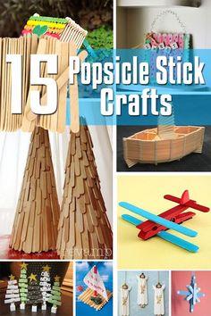15 Popsicle Stick Craft Ideas | Crafts | Pinterest
