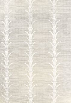 Acanthus Stripe in Fog and Chalk by Celerie Kemble for Schumacher Wallcovering