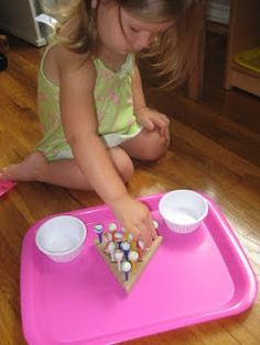 Inexpensive Toddler Activities - Items found at a Dollar Store