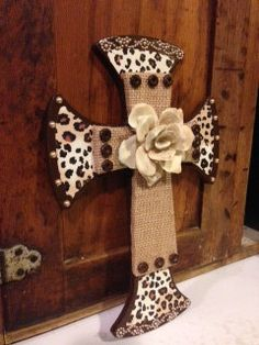 Decorative stacked wooden cross. $25.00, via Etsy.