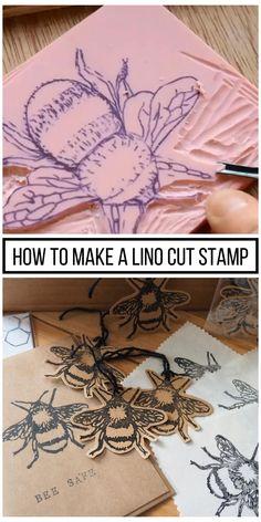 Stamp Printing, Printing On Fabric, Screen Printing, Stencil Printing, Logo Fleur, Lino Art, Eraser Stamp, Stamp Carving, Handmade Stamps