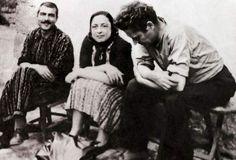 Kemal Tahir, Piraye and Nazim Hikmet at Cankırı Prison
