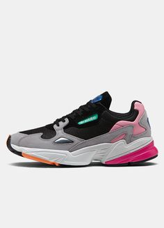 adidas falcon grises mujer