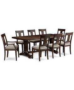 Metropolitan Contemporary 9Piece Dining Table 6 Side Chairs & 2 Fair 2 Piece Dining Room Set Review