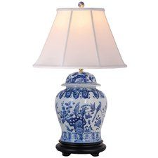 Blue & White Temple Jar Lamp - Wide selection of Room Dividers, Shoji Screens, Oriental and Asian Home Furnishings, Chinese Lamps and accessories at warehouse prices. White Lamp Shade, White Table Lamp, Table Lamp Sets, Porcelain Dolls Value, Porcelain Sink, Painted Porcelain, Fine Porcelain, Chinese Lamps, Oriental Furniture