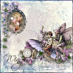 Ha-ha I called this page 'It's been ages since I've been away with the fairies. Used kit If I had wings G&T Designs The photo is one of my Granddaughter www.e-scapeandscrap.net/boutique/index.php?main_page=prod...