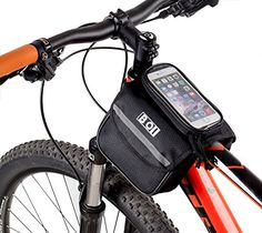ArcEnCiel Bicycle Tube Frame Cycling Pannier Water Resistant Bike Bag & 5.5 inch Mobile Phone Screen Touch Holder - http://mountain-bike-review.net/products-recommended-accessories/arcenciel-bicycle-tube-frame-cycling-pannier-water-resistant-bike-bag-5-5-inch-mobile-phone-screen-touch-holder/ #mountainbike #mountain biking