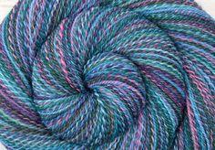 Handspun Yarn, Fingering weight - FROSTBITTEN - Handpainted Falkland wool, 390 yards, gift for knitter, weft yarn by BlackSheepGoods on Etsy