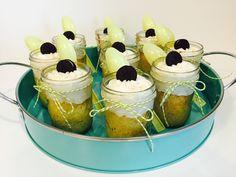 Vanilla Oreo Mason Jar Cakes #bakerstwine  #roundmetalservingtray #pickyourplum