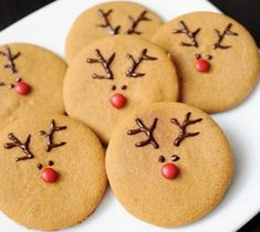 Best Decorated Christmas Cookies | Cute Reindeer Christmas Cookies Recipe (Click Photo for Recipe)