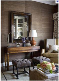 Textured walls and brown hues