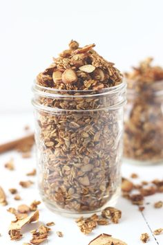 Apple Spice Granola- Start the fall with a granola packed with all the warm spices of the season!