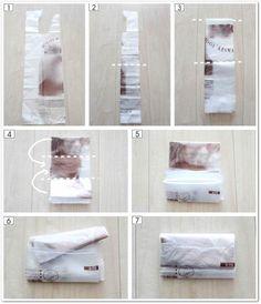 レジ袋・ビニール袋のたたみ方と、6つの収納方法 |メグメグの好奇心♪♪ 収納インテリア