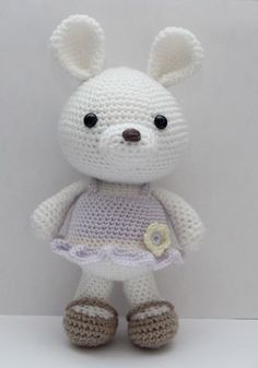 Amigurumi Crochet Pattern Lavender Bunny by littlemuggles on Etsy, $5.00
